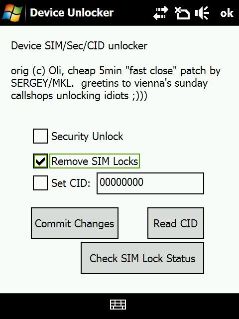 HTC Touch Diamond SIM Unlocker