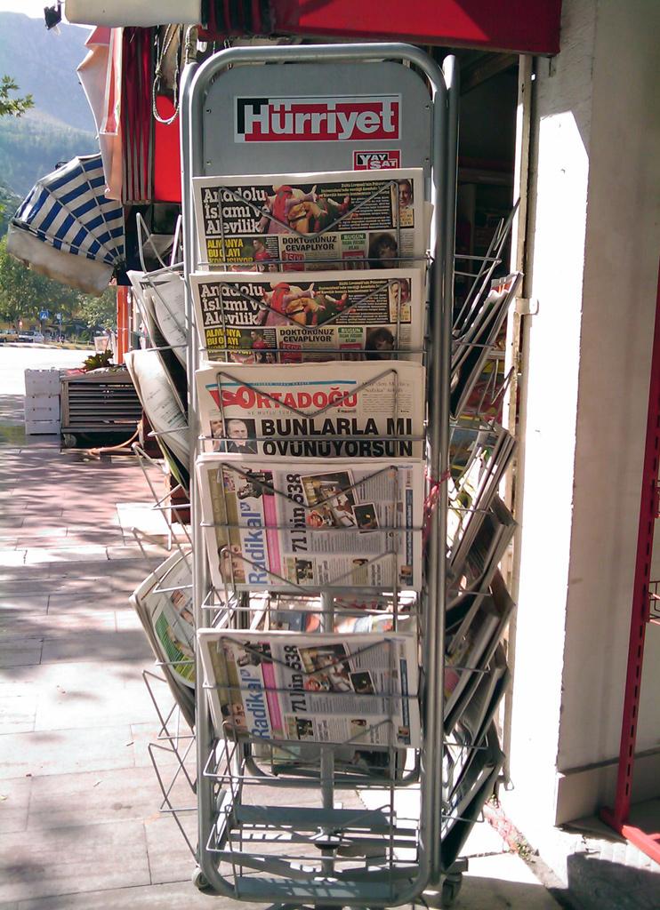 A newspaper stand in Turkey