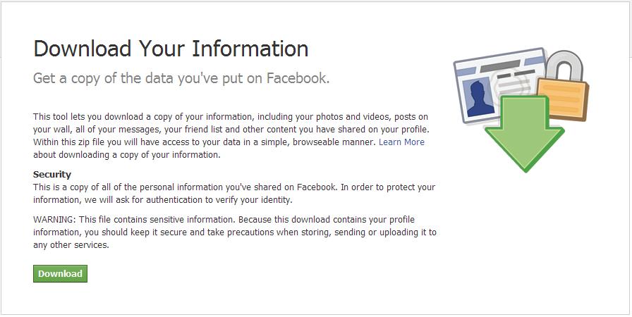 Facebook data liberation