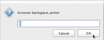 Changing browser backspace action behavior of Firefox on Linux